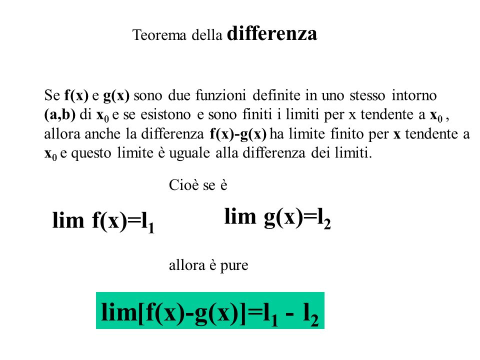 lim[f(x)-g(x)]=l1 - l2 lim g(x)=l2 lim f(x)=l1
